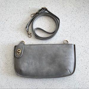 Joy Susan Gray Crossbody Bag